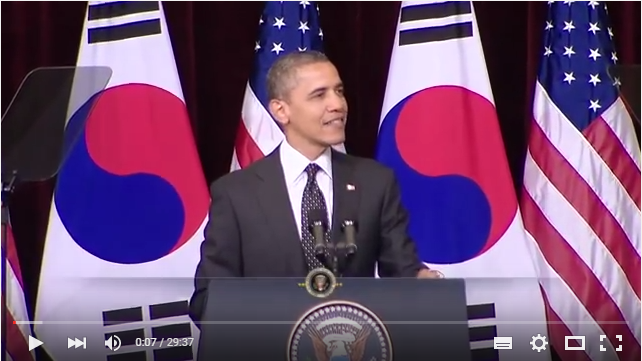 President Barack Obama Speaks at Hankuk University