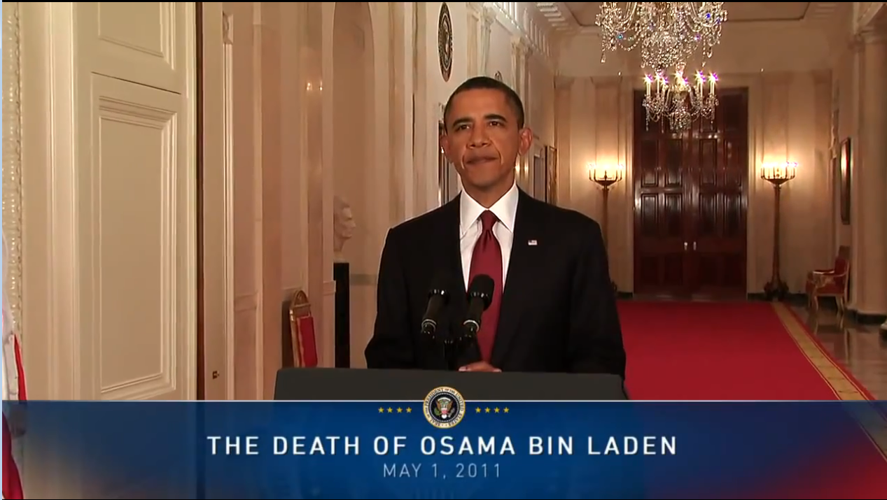 President Obama on Death of Osama bin Laden