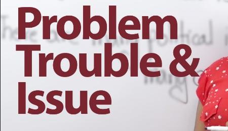 Hướng dẫn cách dùng problem, trouble và issue