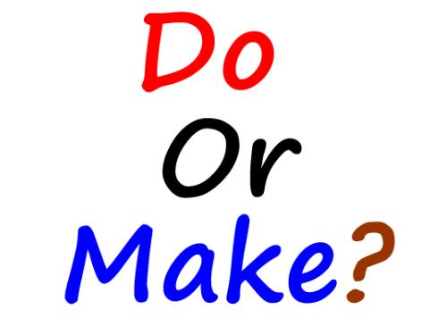 Cách phân biệt do và make