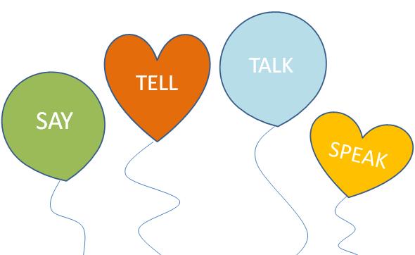 Cách dùng của say, tell, speak và talk