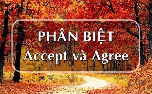 Cách phân biệt Accept và Agree