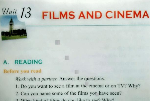 Bài tập tiếng Anh lớp 10 Unit 13: Films and cinema