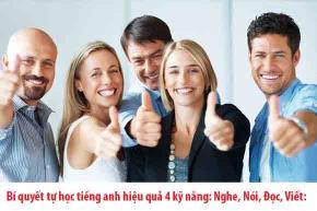 Bí quyết tự học tiếng Anh hiệu quả 4 kỹ năng nghe, nói, đọc, viết
