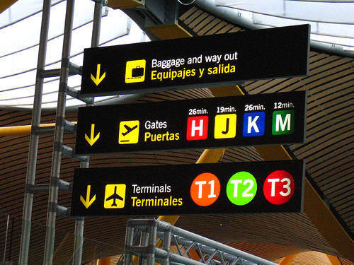 Những biến báo hay gặp ở sân bay bằng tiếng Anh