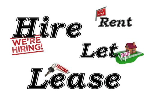 Cách phân biệt Rent, Lease, Hire