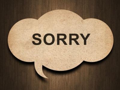 Cách nói lời xin lỗi trong tiếng Anh
